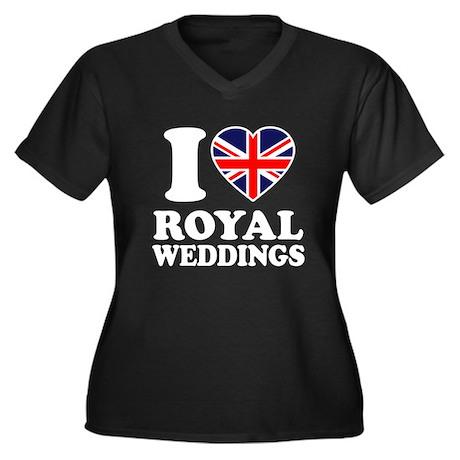 I Love Royal Weddings Women's Plus Size V-Neck Dar