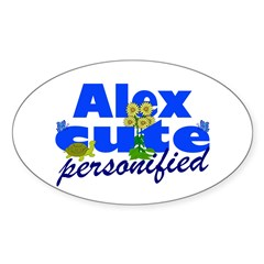 Cute Alex Sticker (Oval)