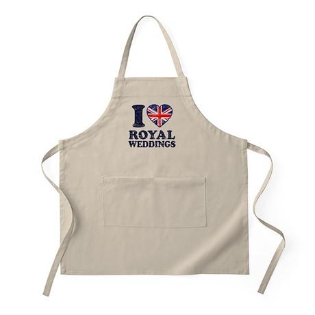 I Love Royal Weddings Apron