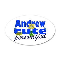 Cute Andrew 22x14 Oval Wall Peel