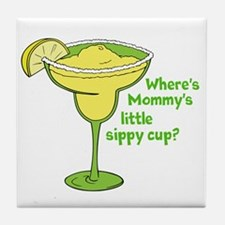 Little Sippy Cup Tile Coaster