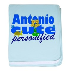 Cute Antonio baby blanket