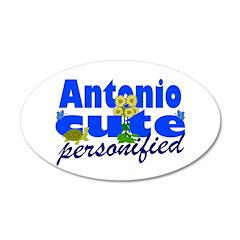 Cute Antonio 22x14 Oval Wall Peel