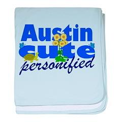 Cute Austin baby blanket