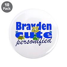 "Cute Brayden 3.5"" Button (10 pack)"