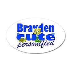 Cute Brayden 22x14 Oval Wall Peel