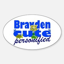 Cute Brayden Sticker (Oval)