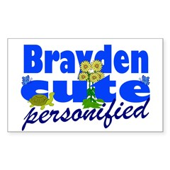 Cute Brayden Decal