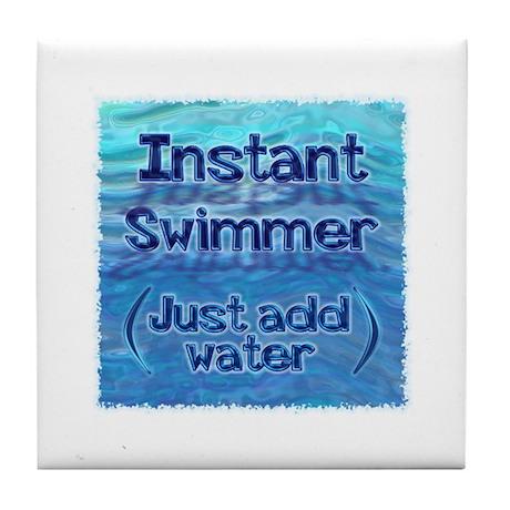 Instant Swimmer Tile Coaster