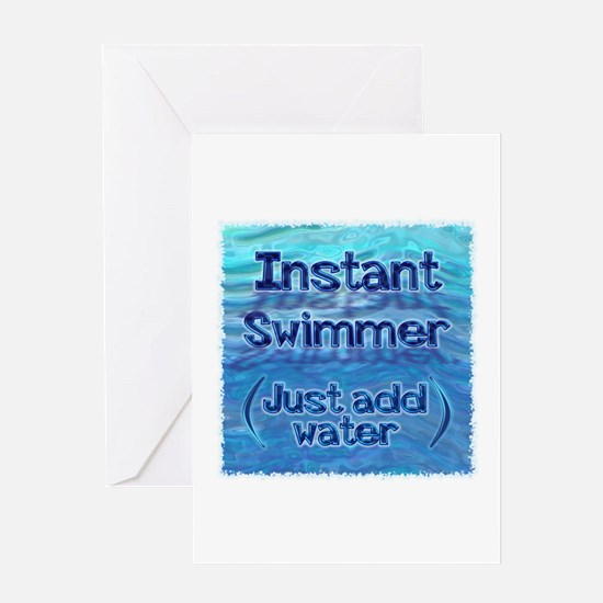 Instant Swimmer Greeting Card