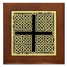 Celtic Square Cross Framed Tile