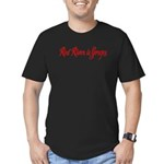 Red River is Gorges Men's Fitted T-Shirt (dark)