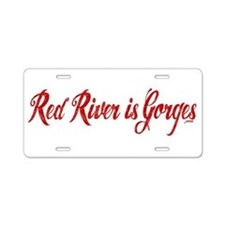 Red River is Gorges Aluminum License Plate