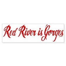 Red River is Gorges Car Sticker