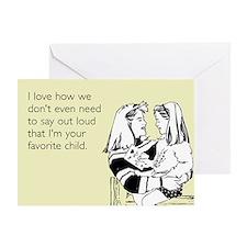 Favorite Child Greeting Card