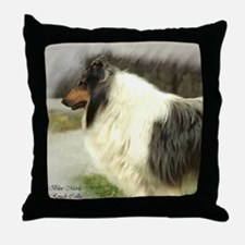 Blue Merle Collie Throw Pillow