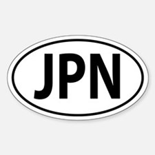 JPN (Japan) Oval decal