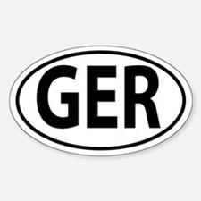 GER - Germany Oval decal