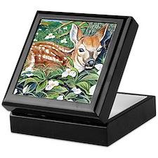 Trillium Fawn Custom Keepsake Box