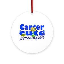 Cute Carter Ornament (Round)