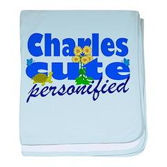 Cute Charles baby blanket