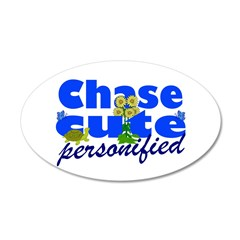 Cute Chase 22x14 Oval Wall Peel