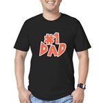 Number One Dad Men's Fitted T-Shirt (dark)
