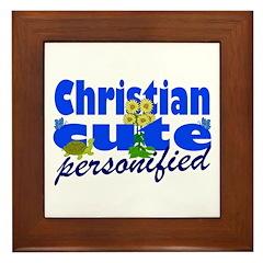 Cute Christian Framed Tile