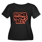 Father Knows Best Women's Plus Size Scoop Neck Dar