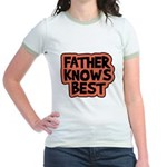 Father Knows Best Jr. Ringer T-Shirt