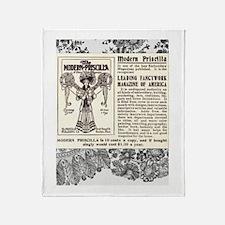 Vintage Magazine Ad Throw Blanket