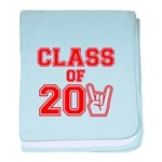Class of 2011 Rocks Red baby blanket