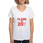 Class of 2011 Rocks Red Women's V-Neck T-Shirt