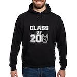 Class of 2011 Rocks White Hoodie (dark)