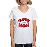 Super Tired Mom Women's V-Neck T-Shirt