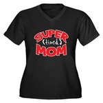 Super Tired Mom Women's Plus Size V-Neck Dark T-Sh