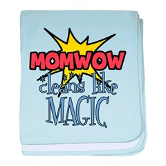 Mom Wow Clean baby blanket