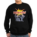 Mom Wow Clean Sweatshirt (dark)