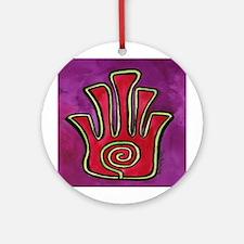 Spiral Hamsa Ornament (Round)