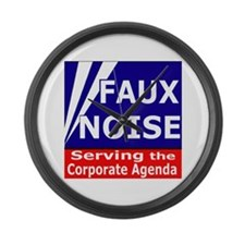 Fox News - Faux Noise Large Wall Clock
