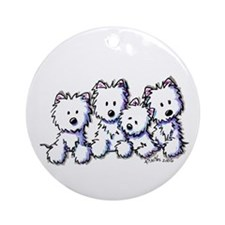 Westie Pocket Pawsse Ornament (Round)