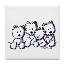 Westie Pocket Pawsse Tile Coaster
