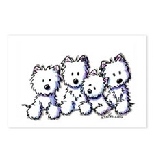 Westie Pocket Pawsse Postcards (Package of 8)