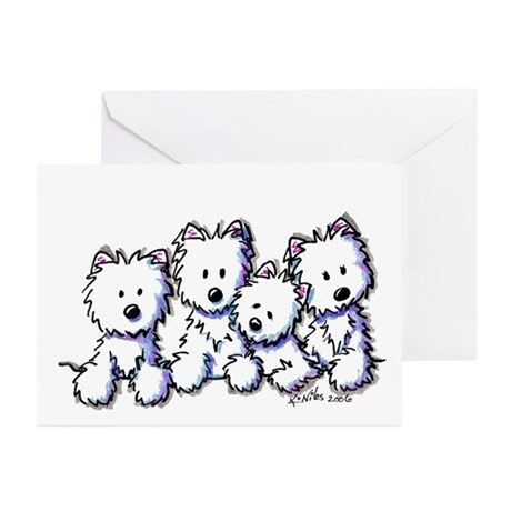 Westie Pocket Pawsse Greeting Cards (Pk of 10)