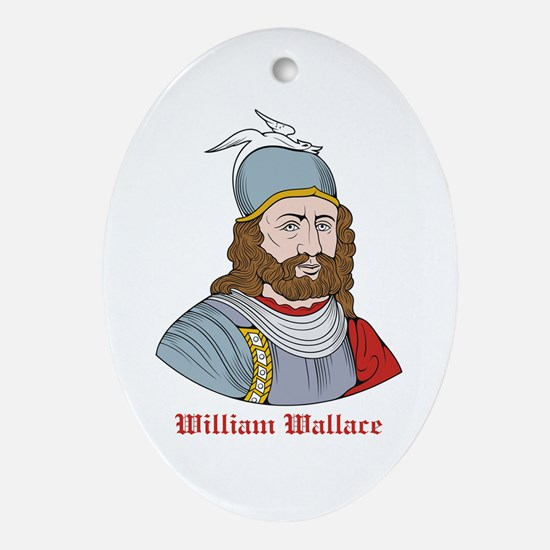 William Wallace Oval Ornament