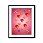 Love Mom Framed Panel Print