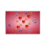 Love Mom Rectangle Magnet (100 pack)