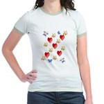 Love Mom Jr. Ringer T-Shirt