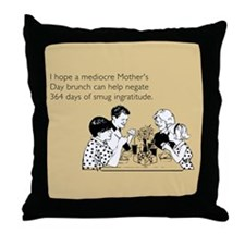 Smug Ingratitude Throw Pillow