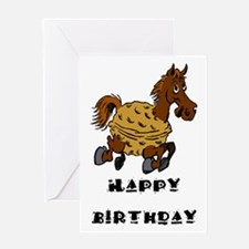 Horse Nut Greeting Card